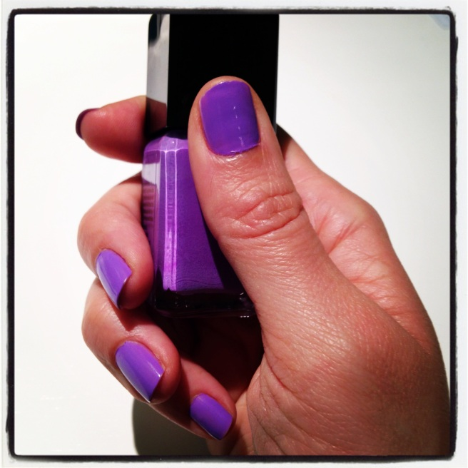 Beat the Monday blues with purple nail polish